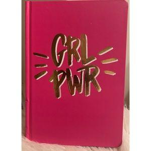 NWOT GRL PWR HOT PINK & GOLD FOIL NOTEBOOK